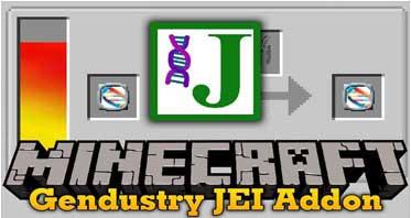 Gendustry JEI Addon Mod 1.12.2 For Minecraft