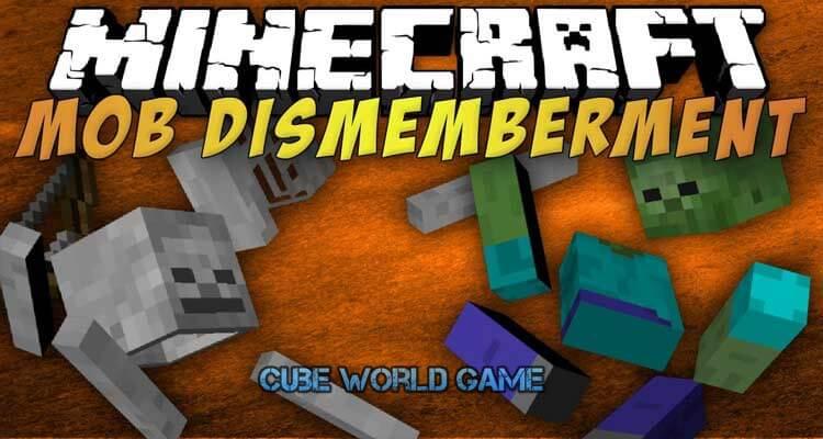 Mob Dismemberment Mod 1.12.2/1.10.2/1.7.10