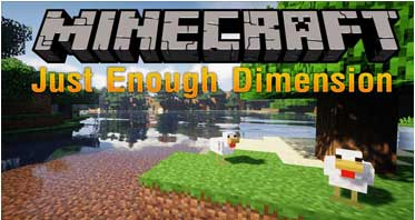 Just Enough Dimensions Mod 1.12.2/1.11.2/1.10.2 For Minecraft