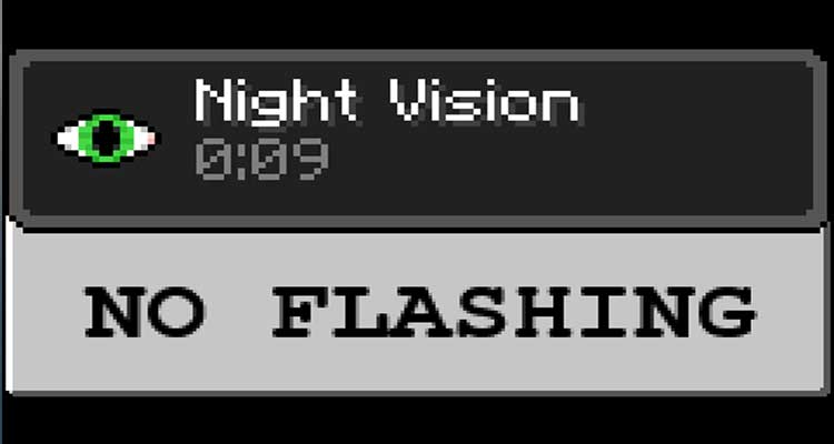 No Night Vision Flashing Mod 1.12.2