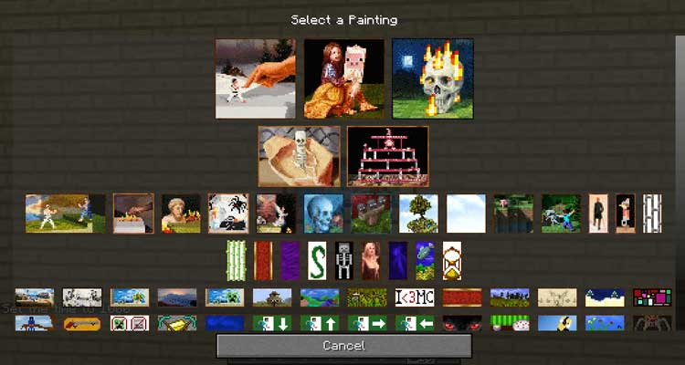 Painting Selection Gui Revamped Mod 1.12.2/1.11.2/1.10.2