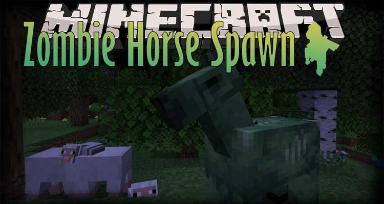 Zombie Horse Spawn Mod 1.16.2/1.15.2/1.14.4