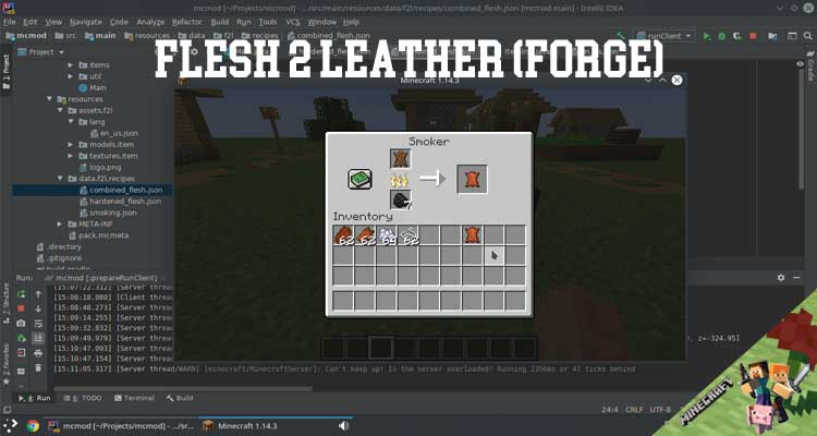Flesh 2 Leather (Forge) Mod 1.16.3/1.15.2/1.14.4