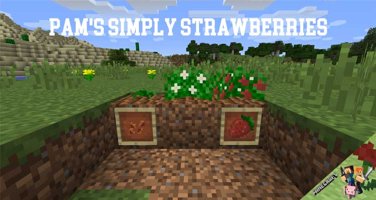 Pam's Simply Strawberries Mod 1.12.2