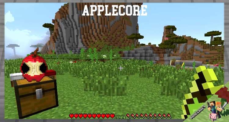 AppleCore Mod 1.12.2/1.10.2/1.7.10 For Minecraft