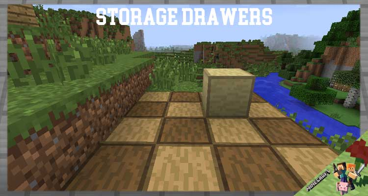 Storage Drawers Mod 1.16.5/1.12.2/1.7.10