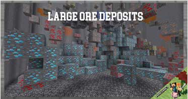 Large Ore Deposits Mod 1.16.4/1.15.2/1.12.2 For Minecraft