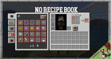 No Recipe Book Mod 1.15.2/1.14.4/1.12.2 For Minecraft