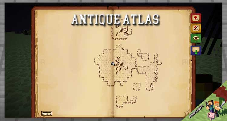 Antique Atlas Mod 1.16.5/1.12.2/1.7.10 For Minecraft