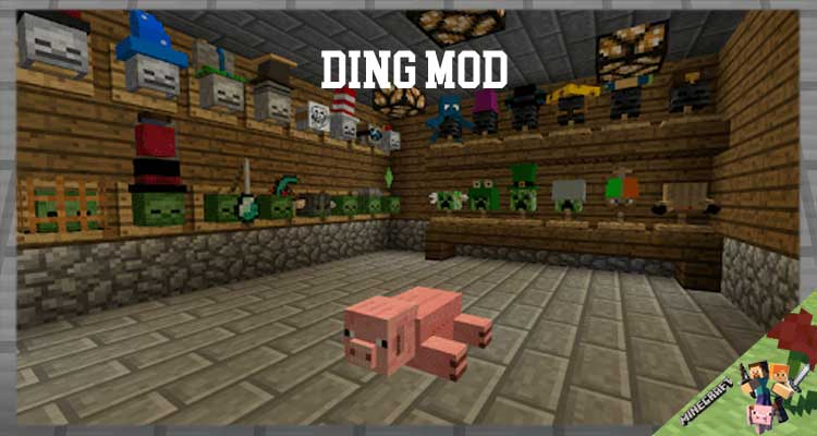 Ding Mod 1.16.5/1.12.2/1.7.10 For Minecraft