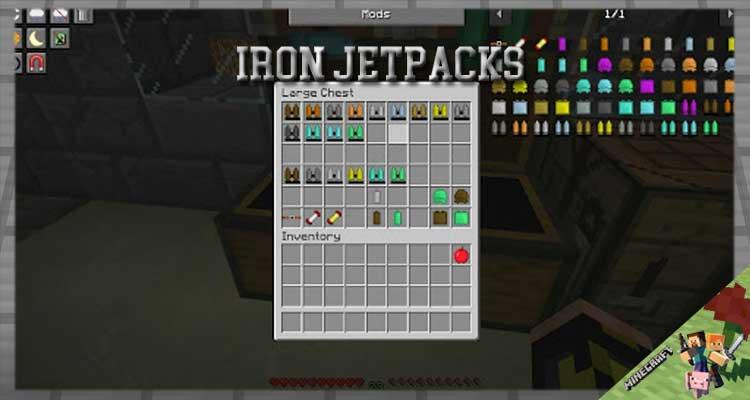 Iron Jetpacks Mod 1.16.5/1.15.2/1.12.2 For Minecraft