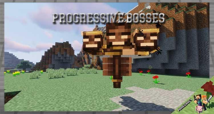 Progressive Bosses Mod 1.16.5/1.15.2/1.12.2 For Minecraft
