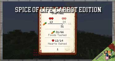 Spice of Life: Carrot Edition Mod 1.16.5/1.12.2/1.10.2