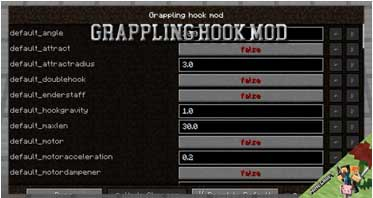 Grappling Hook Mod 1.12.2/1.10.2/1.7.10 For Minecraft
