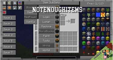 NotEnoughItems Mod 1.8.9/1.7.10 For Minecraft