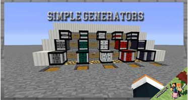 Simple Generators Mod 1.12.2/1.11.2/1.10.2 For Minecraft