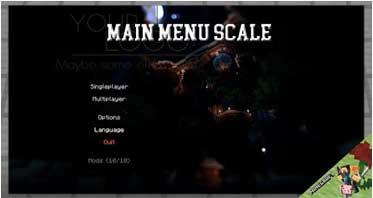 Main Menu Scale Mod 1.12.2 For Minecraft