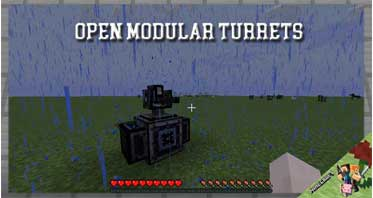 Open Modular Turrets Mod 1.12.2/1.10.2/1.7.10 For Minecraft