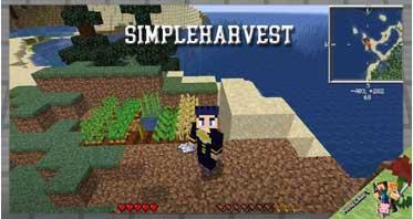 SimpleHarvest Mod 1.16.1/1.12.2/1.10.2/1.7.10 For Minecraft