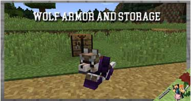 Wolf Armor and Storage Mod 1.12.2/1.10.2/1.7.10 For Minecraft
