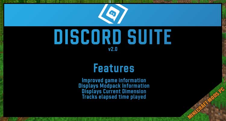 DiscordSuite Mod 1.12.2/1.11.2/1.10.2 For Minecraft