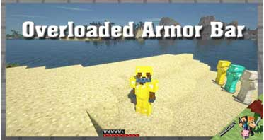 Overloaded Armor Bar Mod 1.16.5/1.15.2/1.12.2 For Minecraft