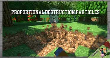 Proportional Destruction Particles Mod 1.12.2 For Minecraft