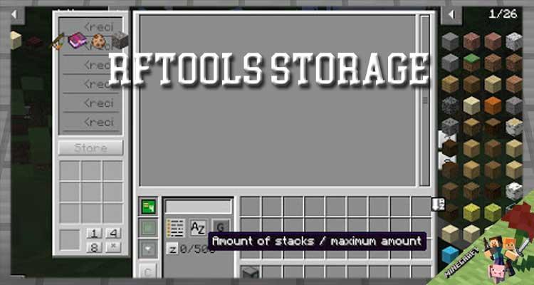 RFTools Storage Mod 1.16.5/1.15.2/1.14.4 For Minecraft